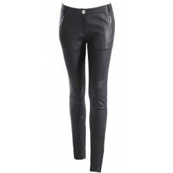 SPECTRE (REF. 6302) BLCACK - GENUINE LEATHER TROUSERS