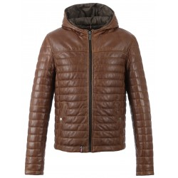 63110 - COGNAC LEATHER JACKET AURELIEN
