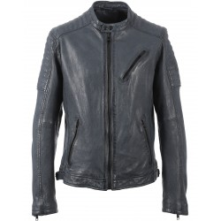 JAY (REF. 63038) PETROL - GENUINE LEATHER JACKET