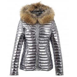 62909 - SILVER NYLON DOWNJACKET JOLIE