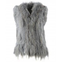 DULCINA (REF. 58725) LIGHT BLUE - REAL FUR VEST