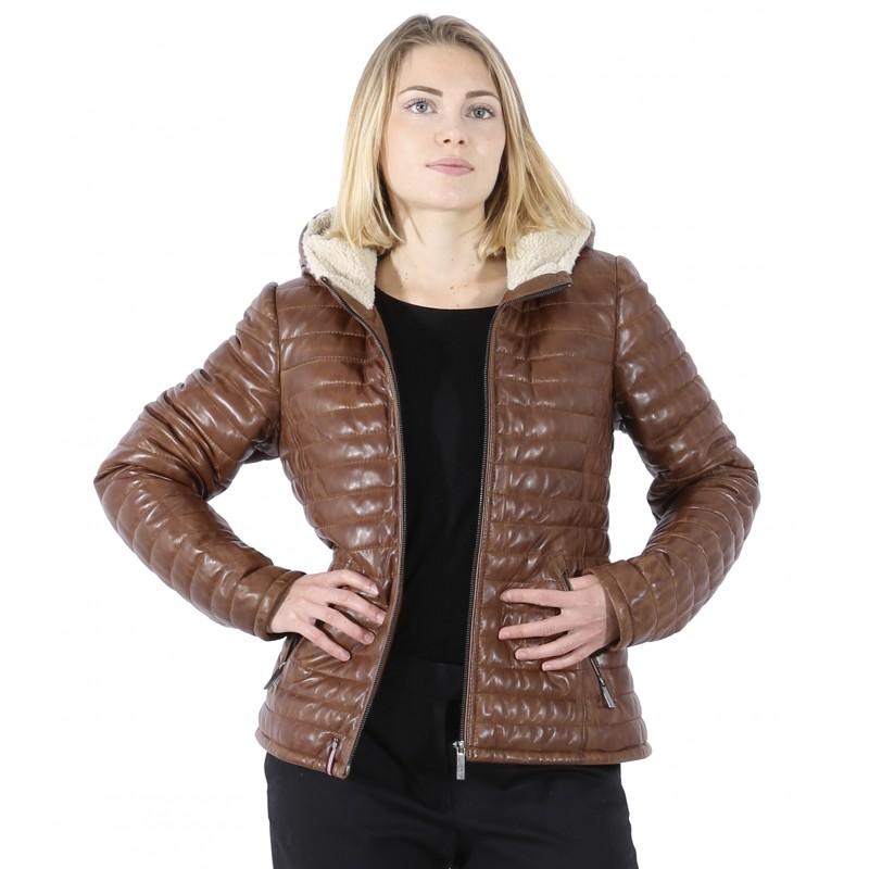 63031 Cognac Brand Blouson Oakwood Youpi Leather The Cuir w7x1FqnwB
