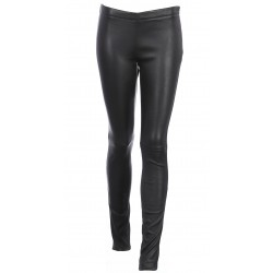 63018 - BLACK LEATHER TROUSERS ANTARES