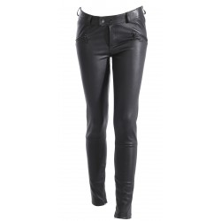 UNIVERS (REF. 63021) BLACK - GENUINE LEATHER TROUSERS