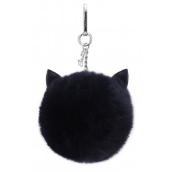 CATSY (REF. 62448) NAVY BLUE - REAL FUR KEYRING