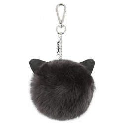 CATSY (REF. 62448) ANTHRACITE - REAL FUR KEYRING
