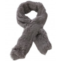 63082- GREY FUR SCARF VIRTUOSE