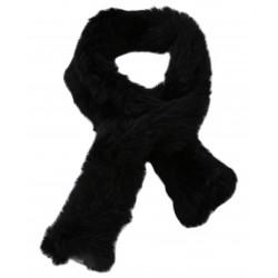 VIRTUOSE (REF. 63082) BLACK - REAL FUR SCARF