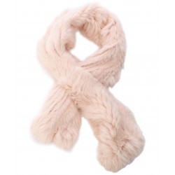 62411 - BLACK FUR SCARF VIRTUOSE