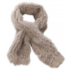 63082- DARK BEIGE FUR SCARF VIRTUOSE