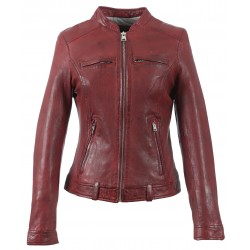 63040 - RED LEATHER JACKET MOON