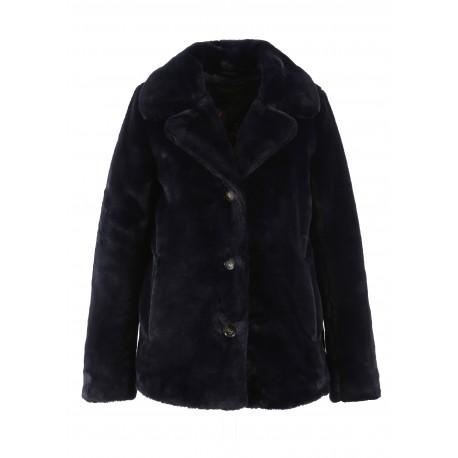 63054 - NANY BLUE FAKE FUR COAT DRING