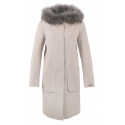62178 - MERINOS WOOL REVERSIBLE LIGHT PINK COAT YALE BI