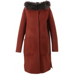62178 - MERINOS WOOL REVERSIBLE RUST COAT YALE BI