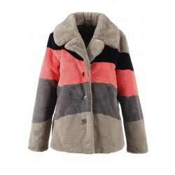 63054 - THREE COLOURED 1 FAKE FUR COAT DRING