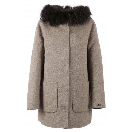 63101 - WOOL REVERSIBLE BEIGE COAT SCHOOL BI