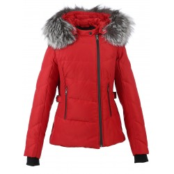 62430 - NYLON RED DOWNJACKET MÉDAILLE
