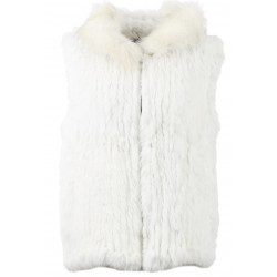 PATTY (REF. 62936) NATUREL - GILET EN FOURRURE VÉRITABLE