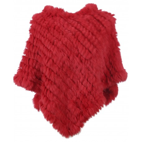 DAVOS (REF. 56034) FIRE - REAL FUR PONCHO