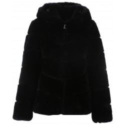 62935 - BLACK REAL FUR JACKET SHAKER