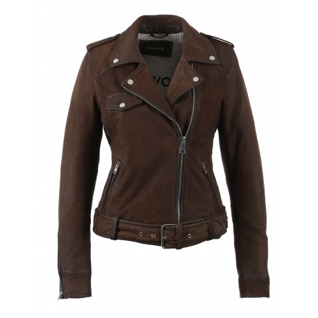 PLEASE (REF. 62988) LIGHT RBOWN – GENUINE NUBUCK LEATHER JACKET