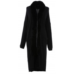 CONTINENTAL (REF. 63066) BLACK - WOOL LONG CARDIGAN