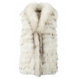 BEAUTY (REF. 61007) NATURAL - REAL FUR VEST