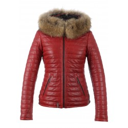 62666 - DARK RED DOWNJACKET HAPPY