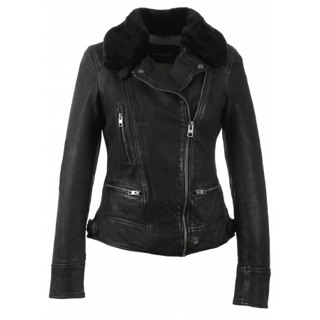 PROJECTION (REF. 62971) BLACK – GENUINE NUBUCK LEATHER JACKET