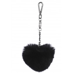 CHARM (REF. 62157) BLACK - FUR HEART LUXURY KEYRING