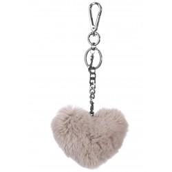 CHARM (REF. 62157) TAUPE - FUR HEART LUXURY KEYRING
