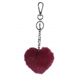 CHARM (REF. 62157) WINE - FUR HEART LUXURY KEYRING