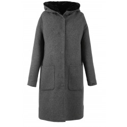 63100 - WOOL GREY COAT AFFIRMATIF 5018cf705da