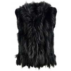 DULCINA (REF. 58725) BLACK - REAL FUR VEST