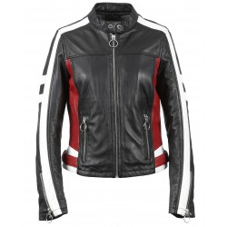 63128 - BLACK LEATHER JACKET GIGI