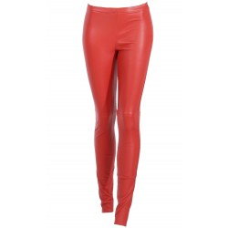 63018 - RED LEATHER TROUSERS ANTARES
