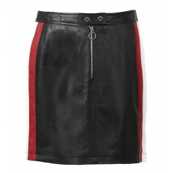 63127 - BLACK LEATHER SKIRT DANCING