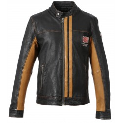 63183 - ANTIC BROWN LEATHER JACKET TALK