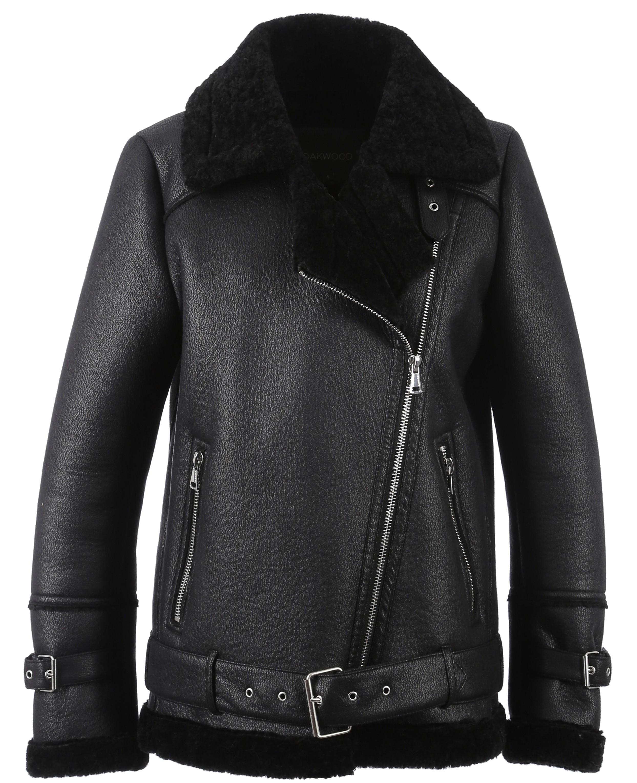 Brand Leather 62888 Blouson The Oakwood Community Noir u13FKJcT5l