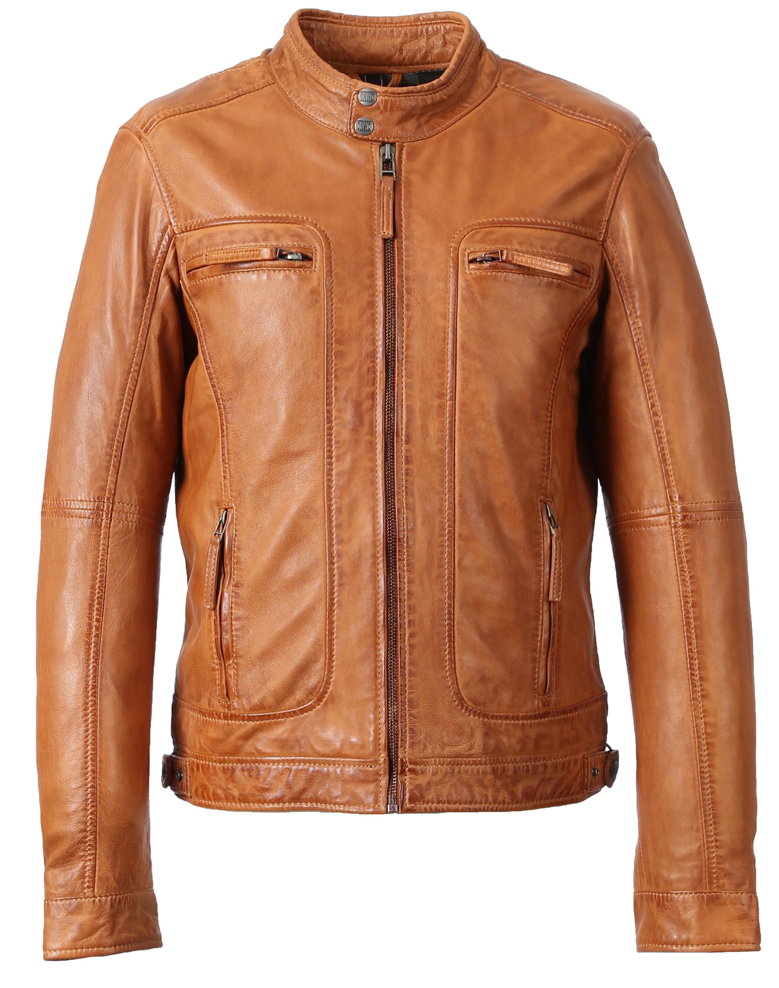 60901 Gris Fonce Casey Brand Oakwood Leather Blouson The nwPN0Oyvm8